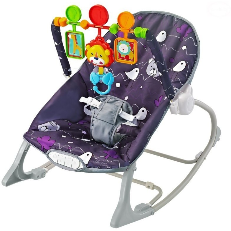 Euro Baby LEŻACZEK LITTLE FOREST PURPLE EB358