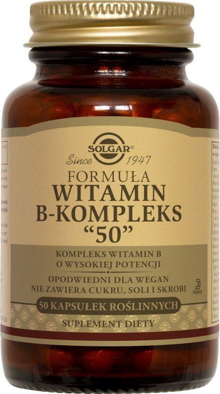 Solgar Witamina B-kompleks 50 - 50 kapsułek SOL1120E