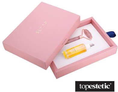 Slaap Slaap Wieczorny Rytuał ZESTAW Roller z różowego kwarcu 1 szt. + Wielozadaniowe serum noc 30 ml