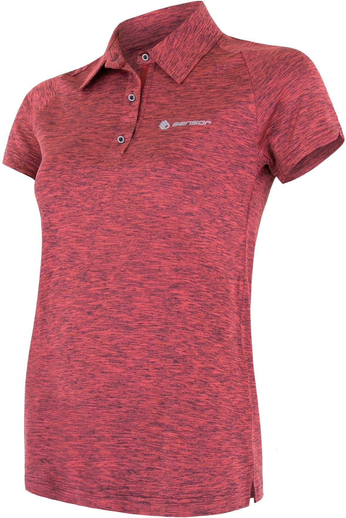 Sensor t shirt damski polo Motion różowy S
