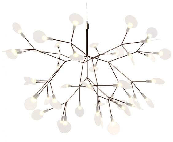 Step into design Lampa wisząca ledowa 72cm Step into design Chic Botanic miedziano-biała ST-5860S