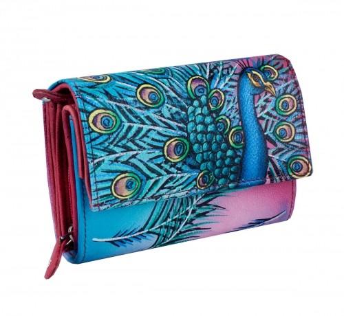 Kochmanski Studio Kreacji Studio Kreacji skórzany portfel damski ręcznie malowany 4271