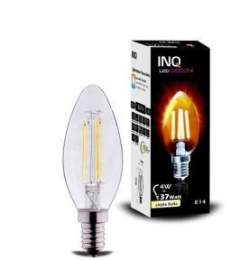 INQ LAMPA LED DECO 4 E14 ŚWIECZKA B35 EDISON 4W 420lm 2700K INQ LDB020WW