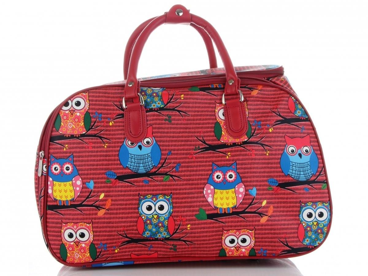 05068b63 Or&Mi Małe Torby Podróżne w sowy włoskiej marki Or&Mi Multikolorowe  Czerwone (kolory) C3268Mmczer