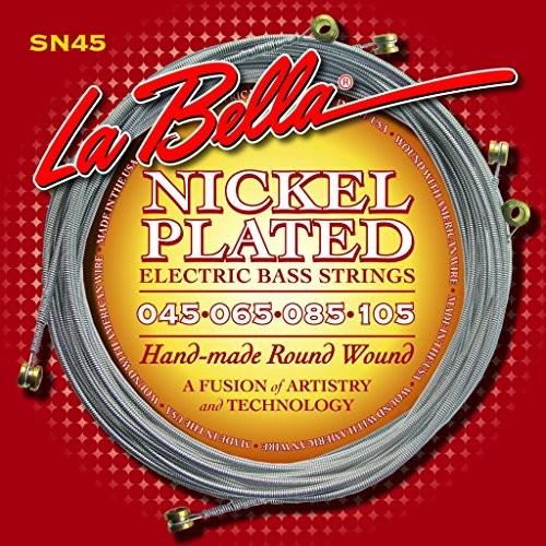 LaBella LaBella 678795 struny do gitary basowej, niklowane, okrągłe, 4 struny SN-45B