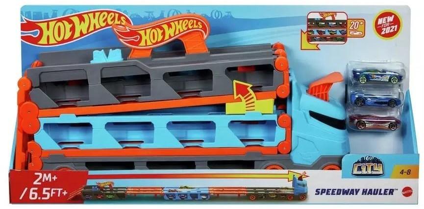 Mattel City Wyścig transporter 2w1 - Mattel