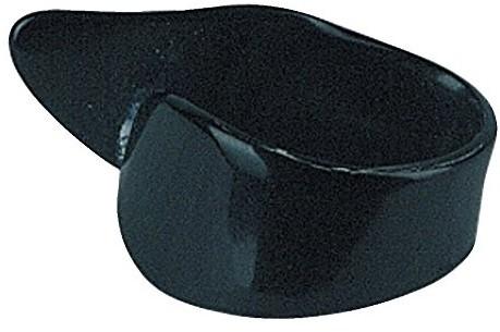 Gewa Plektrum/Pick pierścień na kciuk prawy, celuloid, czarny, 12 sztuk 527360