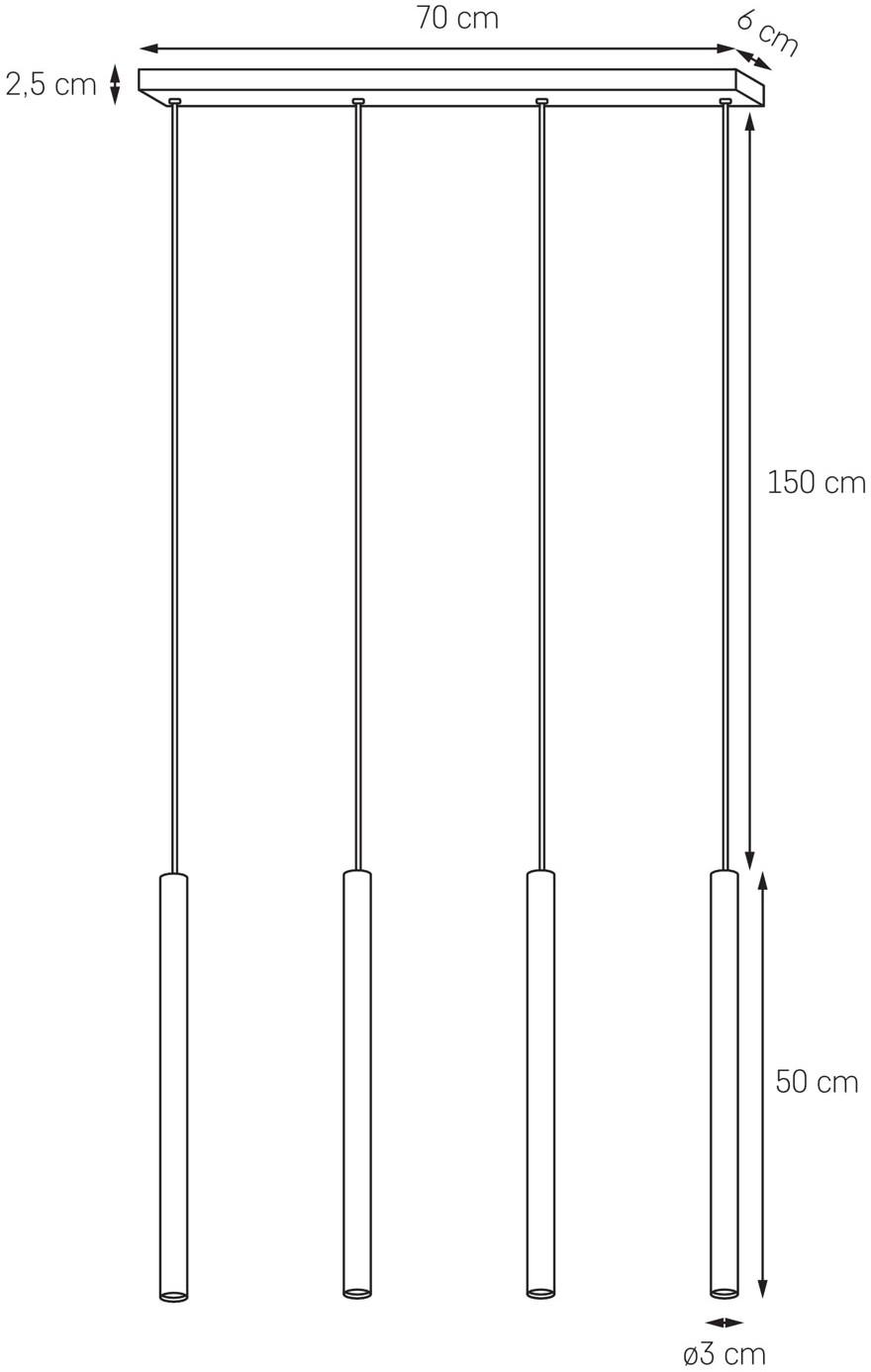 Kaspa Lampa wisząca Roll 2 czarna 10715402