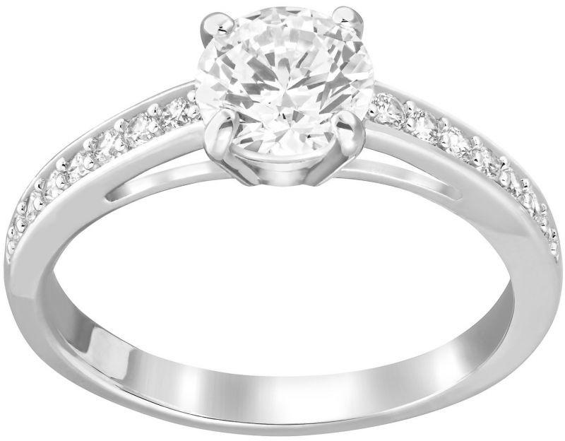 Swarovski Attract Round Ring White Rhodium-plated