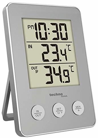 Technoline Wewnętrzna zewnętrzna-termometr stal  WS 9175obr/min/max pamięć masowa inkl.1nadajnik WS 9175