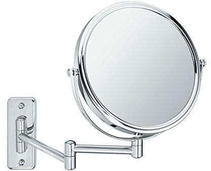 Sanwood 6650700.0BEA lusterko 1: widok, lustro ścienne 5-krotne powiększenie, metal, chrom, 31.0x 23.3x 3.8cm 6650700.0