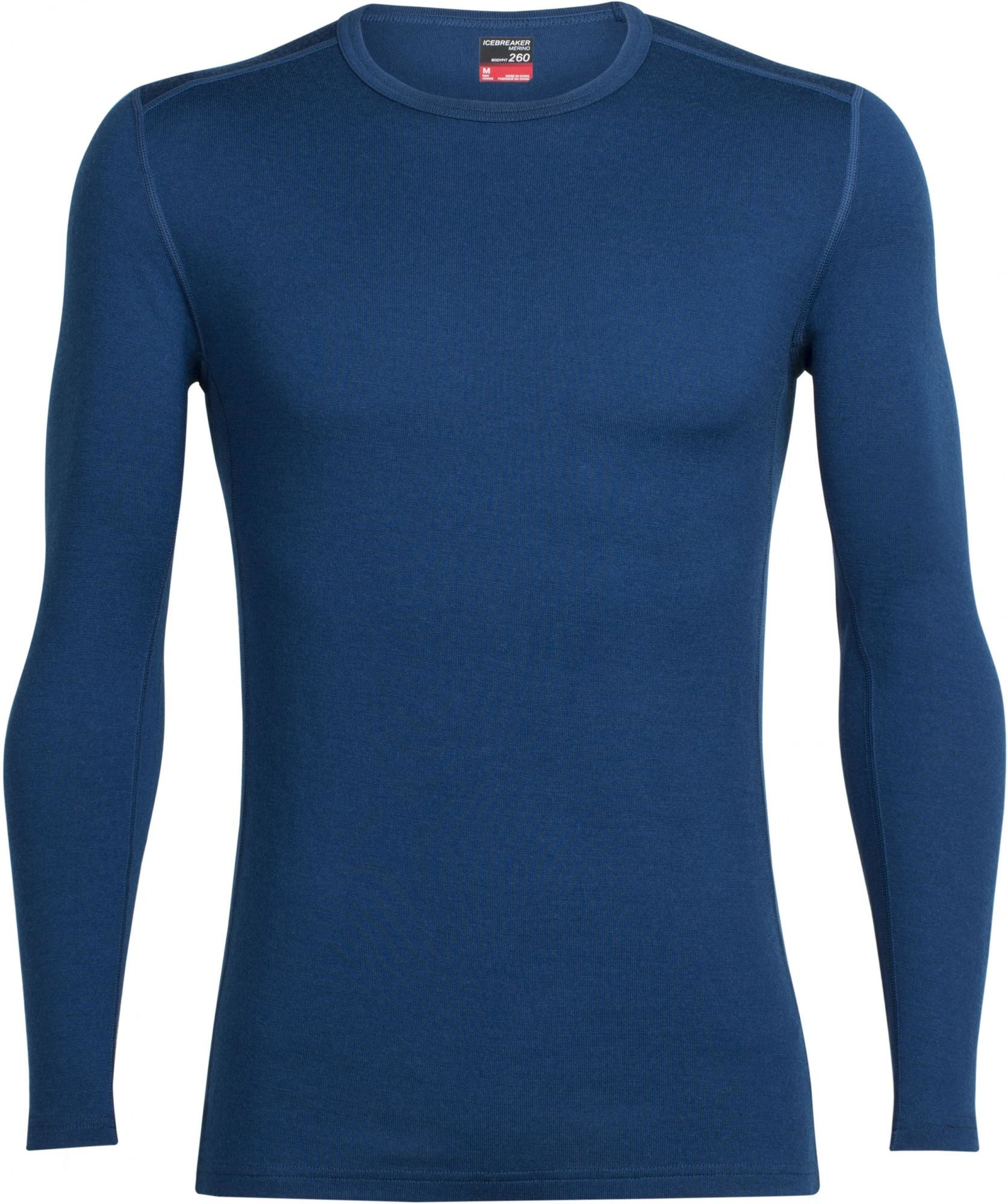 Icebreaker Mens Tech Top LS Crewe Largo XXL