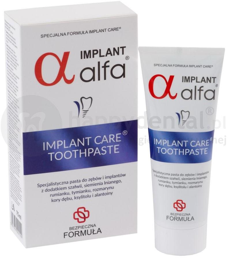 Atos ALFA IMPLANT pasta do zębów 75ml z naturalnymi składnikami