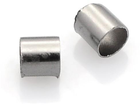 Import ZACR9 Zacisk końcówki do sznurków rzemieni 3x3mm 50szt.