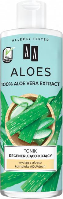 Oceanic ALOES 100% Aloe vera extract Tonik regenerująco-kojący 400ml 52670-uniw