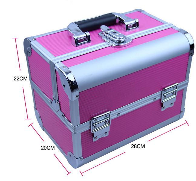 Kuferek kosmetyczny różowy 9343-uniw