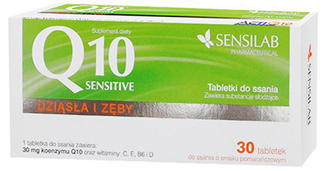 Sensilab Q10 Sensitive tabletki do ssania 30 tabletek Pharmasis