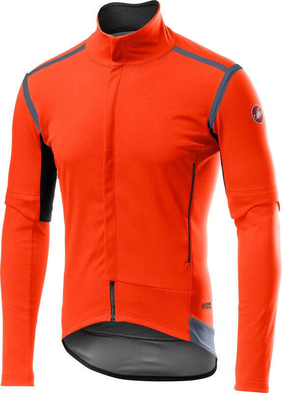 Castelli Perfetto RoS Kurtka rowerowa z odpinanymi rękawami Mężczyźni, orange M 2020 Kurtki przeciwwiatrowe 4519501-034-M