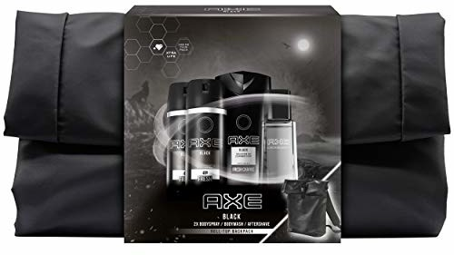 Axe Zestaw upominkowy Black z limitowanym plecakiem (2 x spray do ciała 150 ml & 1x żel pod prysznic 250 ml & 1x Aftershave 100 ml)