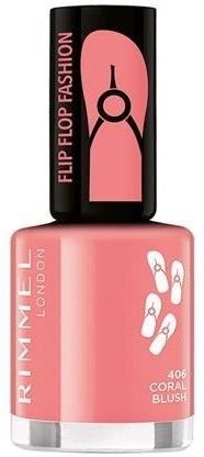 Rimmel Flipflop Fashion lakier do paznokci 406 Coral Blush 8ml 54949-uniw