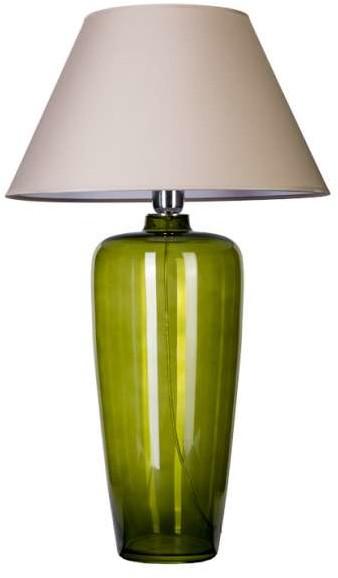 4concepts Stołowa LAMPA stojąca BILBAO L019811206 abażurowa LAMPKA nocna do sypialni szara zielona L019811206