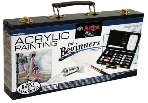 Royal Langnickel Royal & Langnickel zestaw do nauki malarstwa akrylowego dla początkujących, produkt niedostępny w polskiej wersji językowej RSET-ACR3000