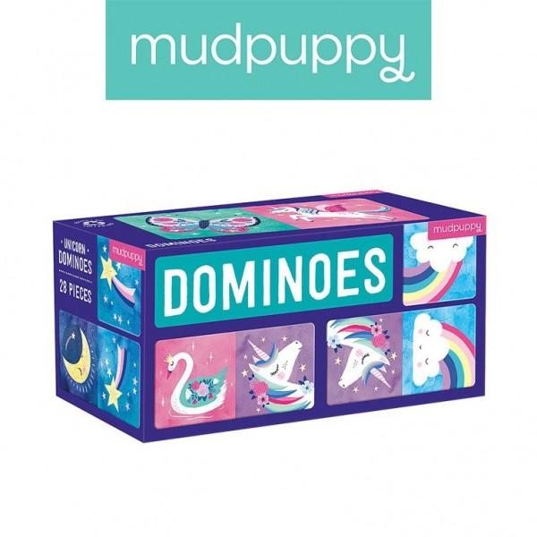 Mudpuppy Domino Magiczne Jednorożce 28 Elementów