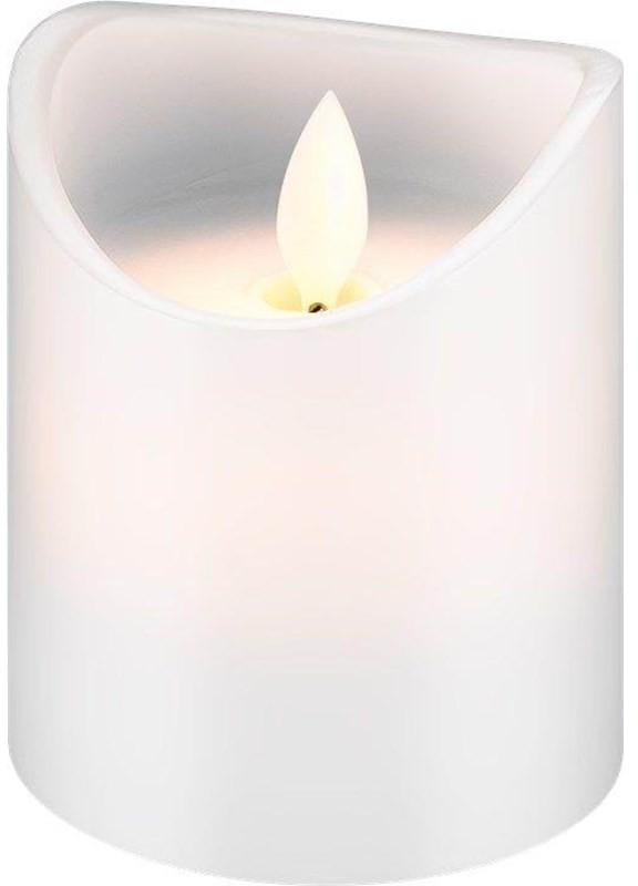 Pro Pro LED white real wax candle 7.5 x 10cm 4040849665196
