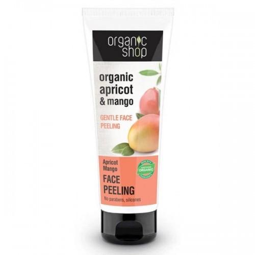 Organic Shop Peeling do twarzy delikatny Brzoskwinia i Mango 75 ml