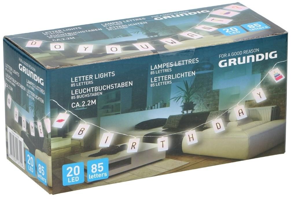 Grundig Grundig - LED Taśma z 85 literami 20xLED/2xAA