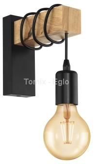 Eglo Kinkiet TOWNSHEND LED czarny/drewniany 32917