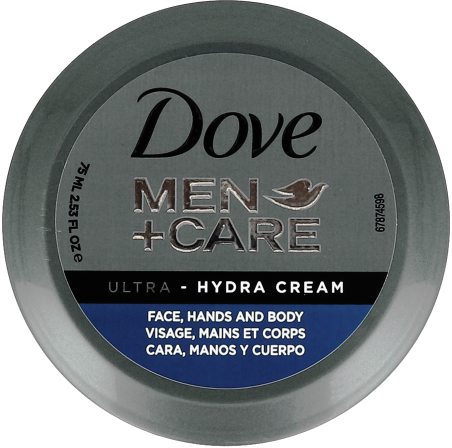 Dove Dove Men+Care Ultra- Hydra Cream Face, Hands And Body Uniwersalny Nawilżający Krem Do Twarzy, Rąk I Ciała Dla Mężczyzn 75ml