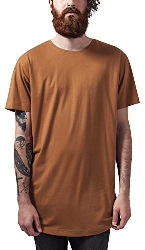 Urban Classics T-shirt Shaped Long Tee dla mężczyzn, kolor: brązowy, rozmiar: Small B078WXJ2YM