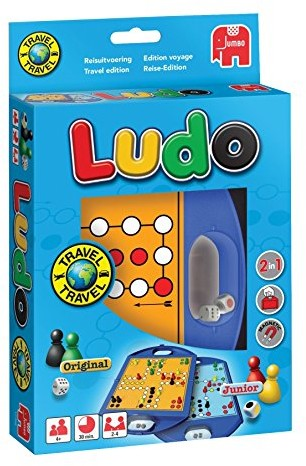 Jumbo 12768 gra Travel Ludo Junior, kompaktowy