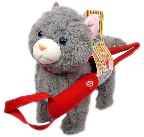 Madej Kot chodzący na smyczy 24cm