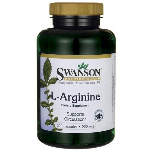 SWANSON L-Arginina 500mg - (200 kap)
