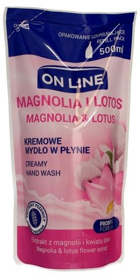 On Line Mydło kremowe w płynie Magnolia i Lotos uzupełnienie 500ml