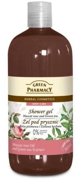 Green Pharmacy Żel pod prysznic Róża Piżmowa i Zielona Herbata 500 ml 1234572368