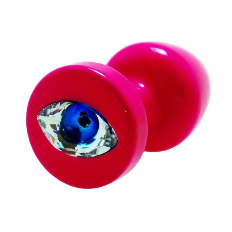 Diogol Korek analny ozdobny - Anni R Eye Pink Crystal Pink 25 mm DG090A