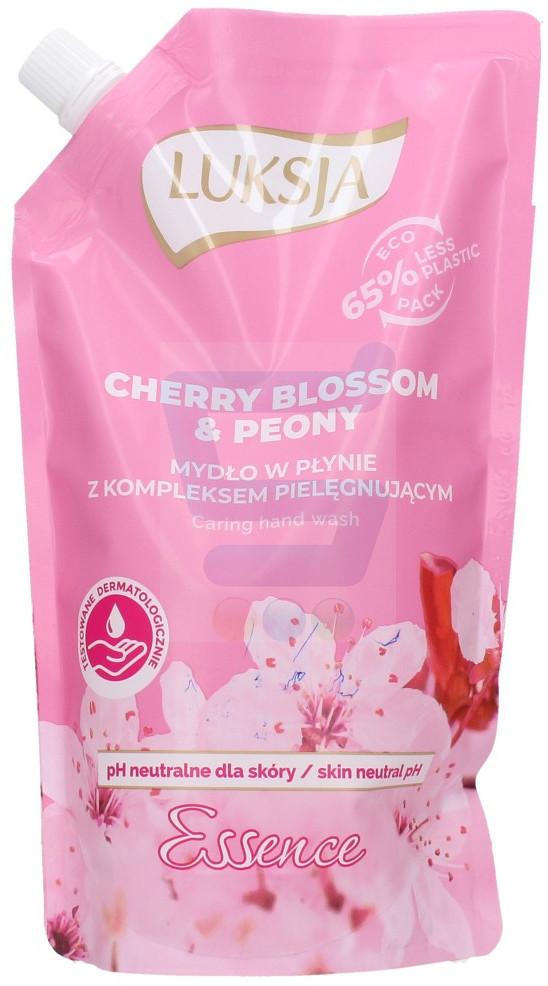 Luksja Essence Mydło w płynie do rąk Cherry Blossom & Peony zapas 400 ml