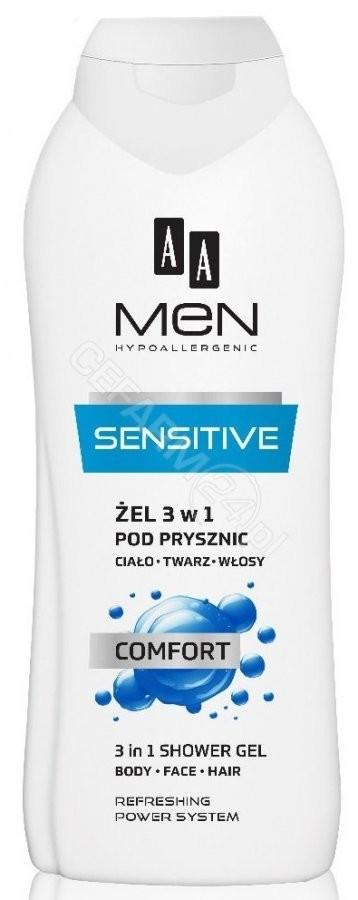 Oceanic AA Men Sensitive Comfort żel pod prysznic 3w1 400 ml