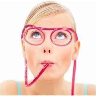UPOMINKARNIA Zakręcone okulary do picia - przeźroczyste x 2 szt. N282-0