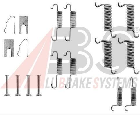 ABS All Brake Systems ABS 0536q akcesoria zestawu, szczęki hamulcowe 0536Q