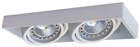 Zuma Line Wpust LAMPA sufitowa ONEON 94362-BK metalowa OPRAWA prostokątna do zabudowy czarna 94362-BK
