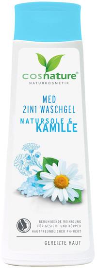 Cosnature Cosnature Naturalny Żel Oczyszczający Do Twarzy i Ciała Z Solanką i Rumiankiem 2 w 1 MED 250ml