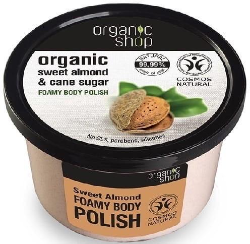 Organic Shop Organiczny scrub do ciała, Olej migdałowy -