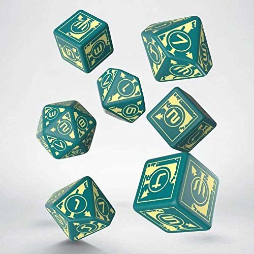Q-Workshop Zestaw Dice Polaris Turquoise & Light Yellow (7)Workshop Role Playing Giochi QWOPOL94