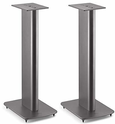 KEF Performance Speaker Stand Titan Grau Paar, Lautsprecherständer   aus Aluminium   integrierte Kabelführung   befüllbar   Spikes