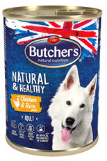 Butchers Natural&Healthy Dog Kurczak z ryżem pasztet 390 g