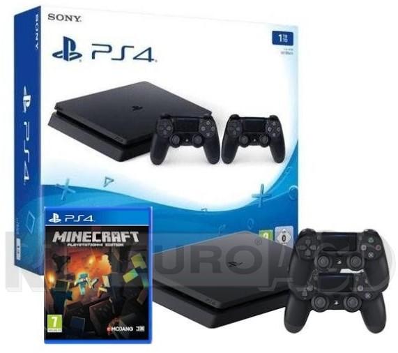Sony PlayStation 4 Slim 1TB + 2 pady + Minecraft